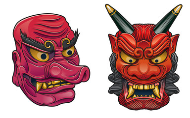 Japanese demons masks