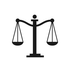Scale of justice icon. Scale balance icon. Vector stock.