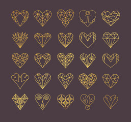 Line icons of heart