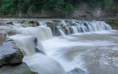 Panorama Wasserfall langzeitbelichtung