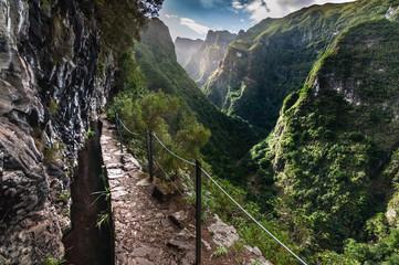 Levada trail in Madeira, Portugal Fototapete