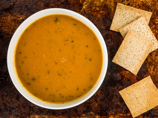 Bowl of Carrot and Coriander Soup