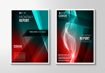 A4 Brochure Cover Mininal Design with Geometric shapes, colorful gradients