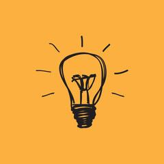 Lightbulb, creative draw, idea