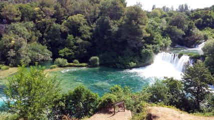 Waterfalls in the Krka National Park, Sibenik, Croatia