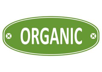 Organic. Rubber stamp on a white background. Flat vector.