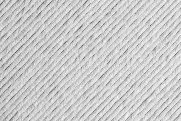 White cotton linen rope background.