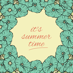 Its Summer time wallpaper with flowers, fun, party, background, vector