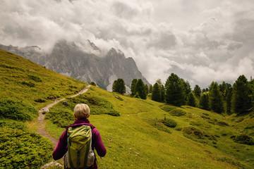 Wanderer in den Dolomiten, Österreich