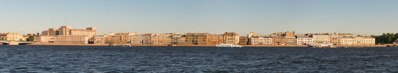 St. Petersburg, Russia - 28 June 2017: auto bridge across the Neva River in St. Petersburg.