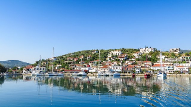 Volos, Greece, view from sea