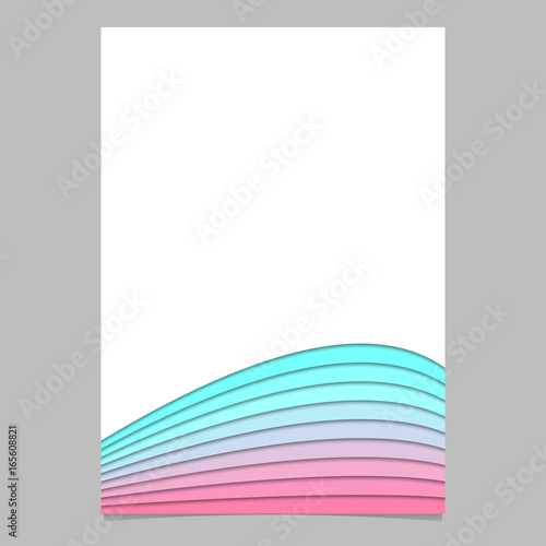 Blank Brochure Template From Curved Stripe Layers  Vector Page