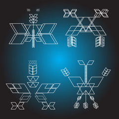 Sacred geometry, vector, graphic design elements. concept of religion