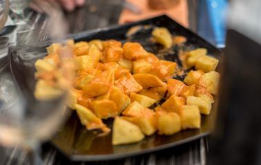 Patatas bravas,typical spanish snack