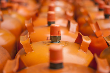 bombonas naranjas / orange bottles