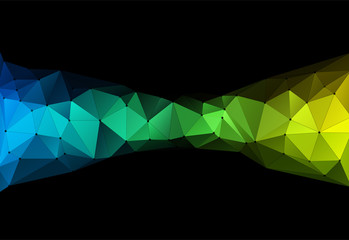Vector illustration of color triangle geometric backround