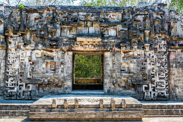 Ancient Temple in Chicanna, Mexico