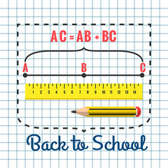 A set of stationery for schoolchildren, goods for creativity and study, Back to school