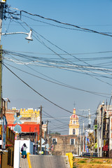 Street in Cholula, Mexico