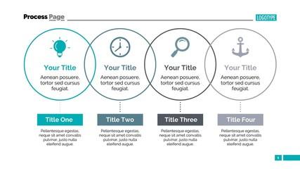 Process Thin Line Diagram Slide Template