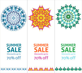 Bright Summer Sale Advertising Vertical Banners