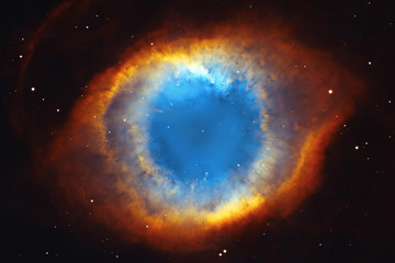 Acrylic Prints Universe The Helix Nebula or NGC 7293 in the constellation Aquarius.