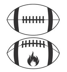American Football Logo Illustration