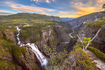 Wall Mural - Voringfossen waterfall gorge Hordaland