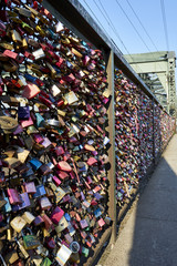 Hohenzollern Bridge with amazing plethera of love locks