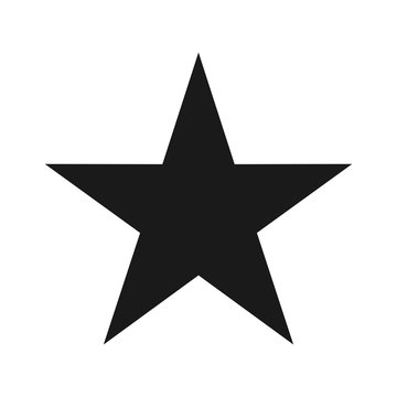 star vector logo. alone star.