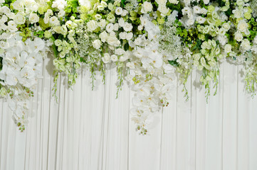 wedding flower backdrop background