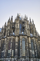 Immense amount of spires of Cologne Cathedral reaching towards the sky