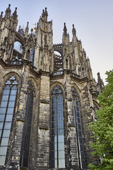 Unique Cologne Cathedral reaching towards the sky
