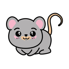 isolated cute mouse icon vector illustration graphic design
