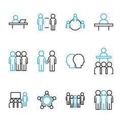 People Icon Vector set, Flat designed Thin line Vector Illustration.