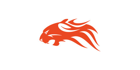 Tiger Head Flame Vector Design