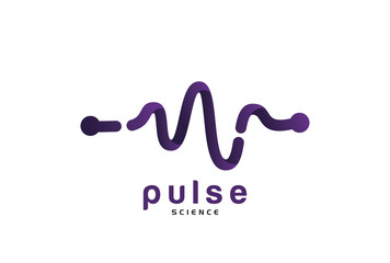 Health Pulse Line Logo Template Design Vector, Emblem, Design Concept, Creative Symbol, Icon