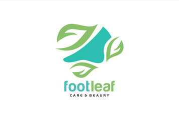 Foot Leaf Skin Care Logo Template Design Vector, Emblem, Design Concept, Creative Symbol, Icon