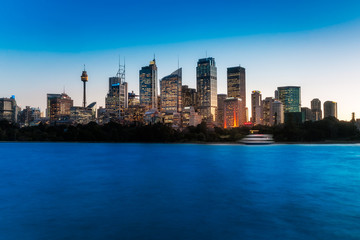 Lights just came up in Downtown City of Sydney at blue hour making the skyline even more mesmerizing