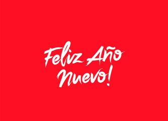 Happy New Year on Spanish language