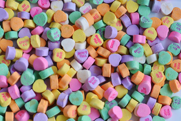 valentines heart candy