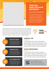 A4 Flyer Template for Creatives and professional business style 4