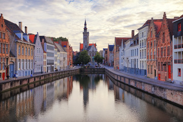 Water channel in Bruges