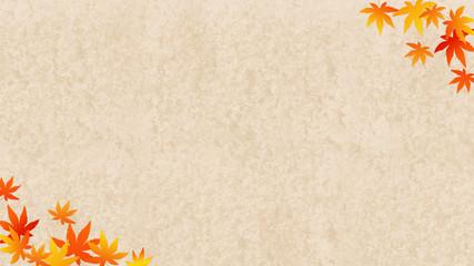 秋のイメージ 砂の背景に紅葉