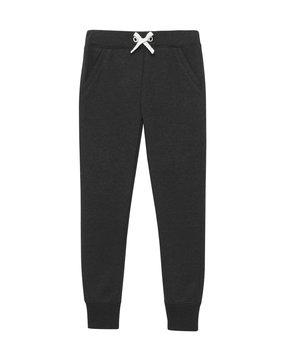 Black sport sweatpants isolated white