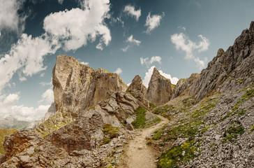 Panascharte an der Geislergruppe in den Dolomiten, Italien
