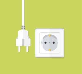 Steckdose Icon Flat Design Vektor Grafik Illustration