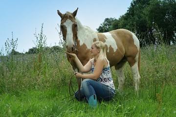 mit dem pferd unterwegs
