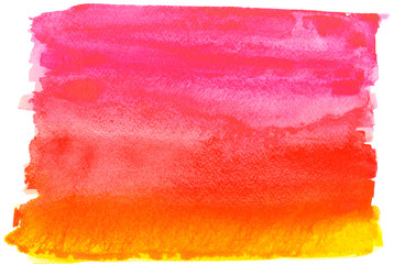 Pink and yellow watercolor gradient background