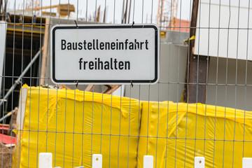 Schild Baustellenausfahrt